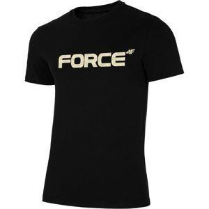 4F PÁNSKE TRIČKO čierna XL - Pánske tričko