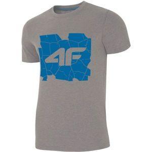 4F PÁNSKE TRIČKO sivá M - Pánske tričko