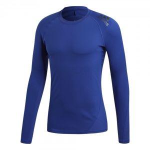 adidas ASK SPR TEE LS tmavo modrá S - Funkčné pánske tričko