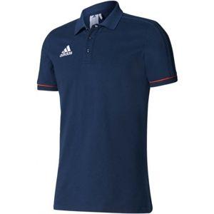 adidas TIRO17 CO POLO tmavo modrá M - Pánske futbalové tričko