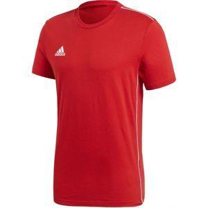 adidas CORE18 TEE červená M - Pánske futbalové tričko