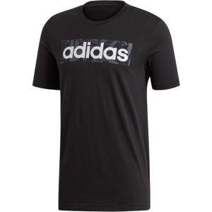 adidas E LIN AOP BOX T čierna XL - Pánske tričko