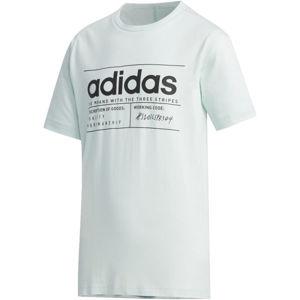 adidas YB BB T svetlo zelená 164 - Chlapčenské tričko