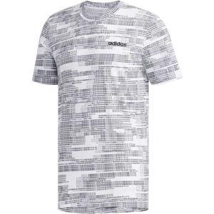 adidas MENS ESSENTIAL AOP TEE biela M - Pánske tričko