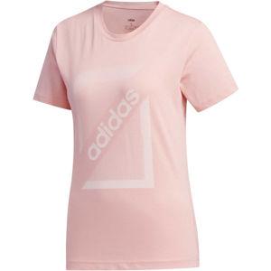 adidas CLIMA CB TEE ružová M - Dámske tričko