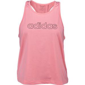 adidas W TRFC TANK svetlo ružová M - Dámske tielko