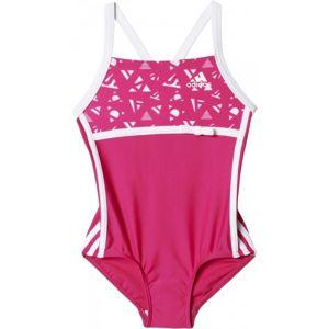 adidas INFANTS 3 STRIPES  92 - Dievčenské jednodielne plavky