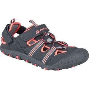 ALPINE PRO BELLEVO sivá 36 - Detská letná obuv