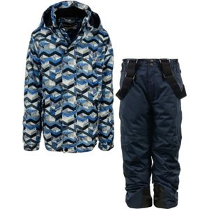 ALPINE PRO BOJORO modrá 128-134 - Detský lyžiarsky set