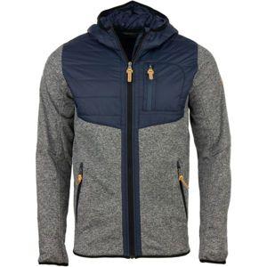 ALPINE PRO DAIS šedá M - Pánsky sveter