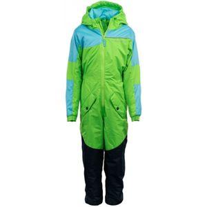 ALPINE PRO BASTO zelená 116-122 - Detský zimný overal