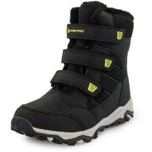ALPINE PRO KURTO biela 28 - Detská zimná obuv