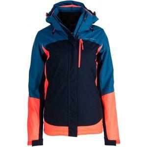 ALPINE PRO OMARA tmavo modrá L - Dámska lyžiarska bunda