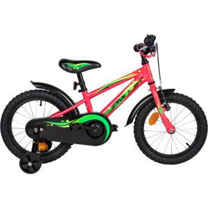 Amulet MINI 16 ružová NS - Detský bicykel