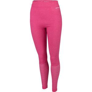 Arcore PSARA ružová M - Dámske bezšvové termo nohavice
