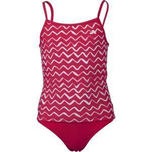 Aress LIN červená 116-122 - Dievčenské dvojdielne plavky