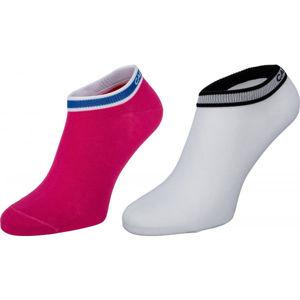Calvin Klein WOMEN LINER 2P LOGO CUFF STRIPE SPENCER  UNI - Dámske ponožky