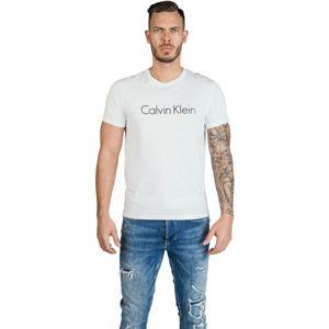 Calvin Klein S/S CREW NECK biela S - Pánske tričko