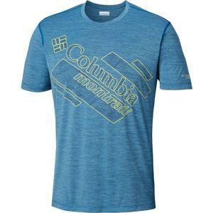 Columbia TRINITY TRAIL 2.0 GRAPHIC SHORT SLEEVE modrá L - Pánske športové tričko