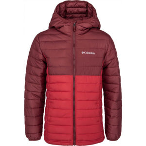Columbia POWDER LITE BOYS HOODED JACKET  XS - Chlapčenská bunda
