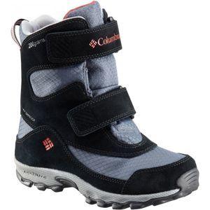Columbia YOUTH PARKERS PEAK VELCRO BOOT šedá 12.5 - Detská outdoorová obuv