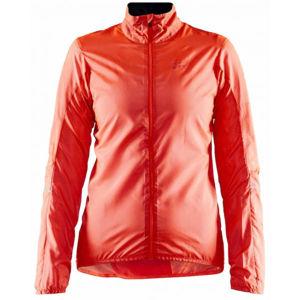 Craft ESSENCE oranžová M - Dámska ultraľahká cyklistická bunda