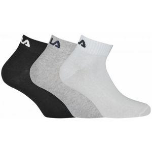 Fila QUARTER PLAIN SOCKS 3P  39/42 - Ponožky