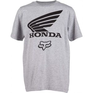 Fox YOUTH FOX HONDA SS sivá S - Detské tričko