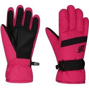 Hannah LEDDA ružová 9-10 - Detské lyžiarske rukavice