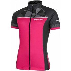 Head LADY JERSEY CLASSIC ružová XS - Dámsky cyklistický dres