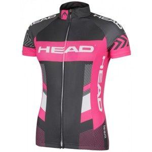 Head LADY JERSEY TEAM šedá XL - Dámsky cyklistický dres