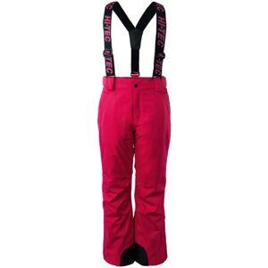 Hi-Tec DRAVEN JR ružová 128 - Juniorské lyžiarske nohavice