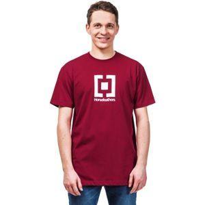 Horsefeathers BASE T-SHIRT červená S - Pánske tričko