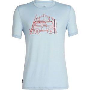 Icebreaker TECH LITE SS CREWE SURFSPOT CAMPER - Pánske športové tričko