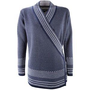 Kama DÁMSKY SVETER ZAVINOVACÍ tmavo modrá M - Dámsky zavinovací sveter