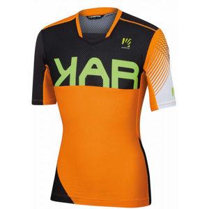 Karpos VERVE oranžová M - Pánske cyklistické tričko