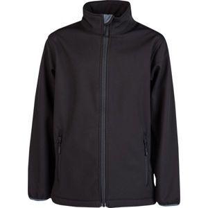 Kensis RORI JR čierna 140-146 - Chlapčenská softshellová bunda