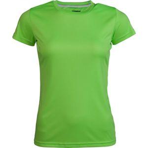 Kensis VINNI NEON YELLOW zelená M - Dámske športové tričko