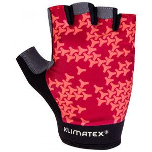 Klimatex DAZZLE šedá L - Dámske cyklistické rukavice
