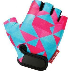 Kross BUZZ ružová S - Dievčenské cyklistické rukavice