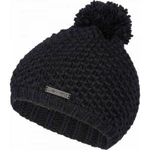Lewro CATLIN čierna 4-7 - Dievčenská pletená čiapka