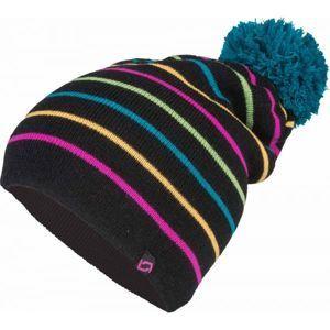 Lewro DITTO čierna 4-7 - Dievčenská pletená čiapka