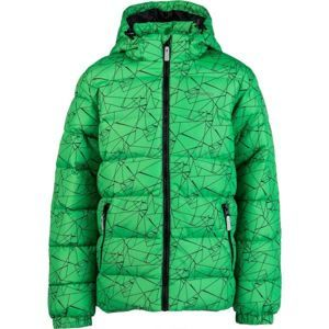 Lewro FANDY zelená 116-122 - Detská prešívaná bunda