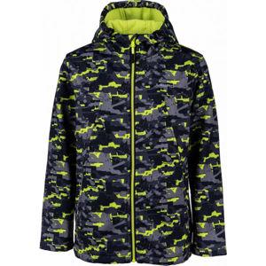 Lewro INAROS zelená 116-122 - Chlapčenská softshellová bunda