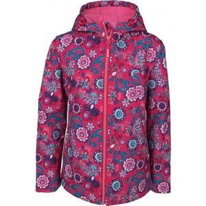 Lewro MARYLIN ružová 128-134 - Detská softshellová bunda