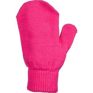 Lewro MEL ružová UNI - Detské pletené rukavice