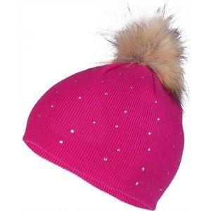 Lewro ROSA ružová 12-15 - Dievčenská pletená čiapka