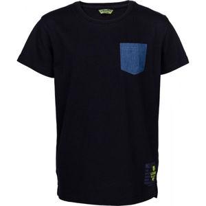 Lewro JANYK čierna 116-122 - Chlapčenské tričko