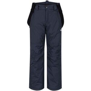 Loap FIDOR tmavo sivá 134 - Detské zimné nohavice