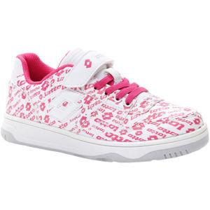 Lotto BASKETLOW AMF II LOGO CL SL biela 35 - Dievčenská obuv na voľný čas